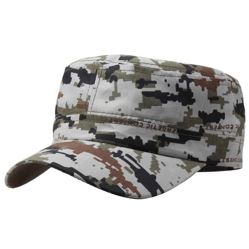 8c09ceb2256 Detail Feedback Questions about Men Military Hats Cadet Castro Army Cap Flat  Top Patrol Baseball Caps Fashion Unisex Cotton Summer Camouflage Sun Hats  C471 ...