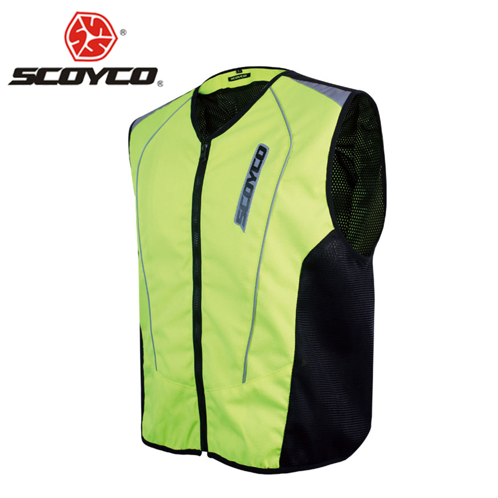 SCOYCO Motorcycle Jacket Reflective Protective Vest Moto Vest Moto Traffic Police Moto F ...