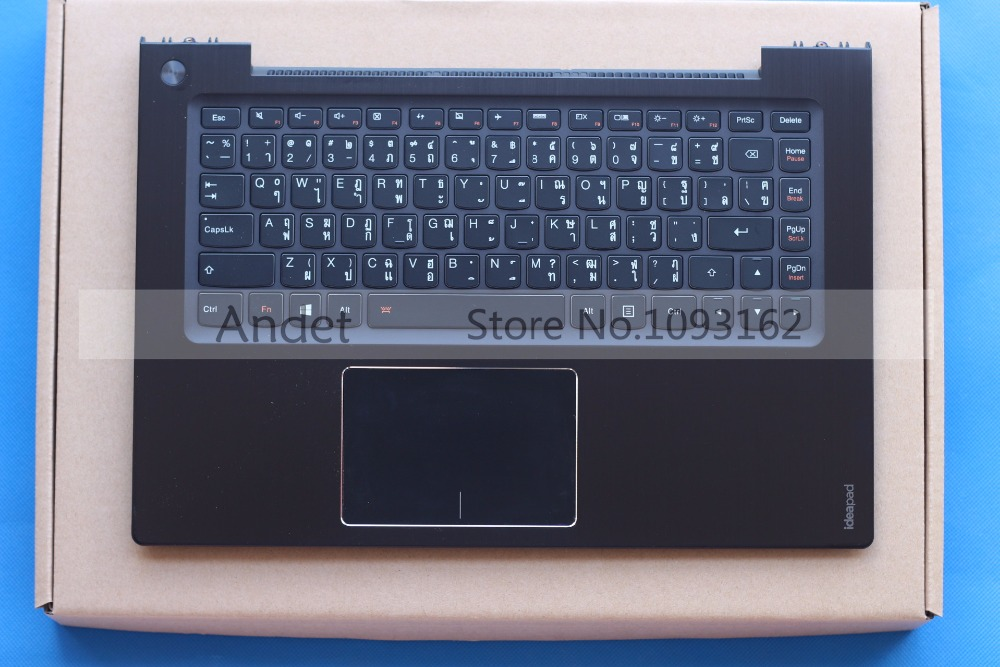 New Original for Lenovo IdeaPad U430 U430P Keyboard Backlit W/ Bezel Palmrest Top Case Upper Cover with Touchpad купить