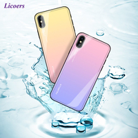 Gradient Aurora Tempered Glass Cases For IPhone X 10 6 6S 7 8 Plus Case Luxury