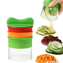 3 In 1 Multifunction Vegetable Silicer Fruit Cutter Blade Spiralizer Peeler Manual Spiral Carrot Kitchen Tool