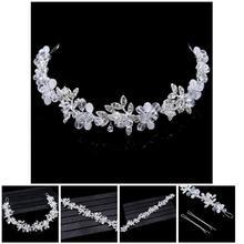 Fashion New Bridal Headband Bridal Wedding Headdress Tiaras Noble Transparent Crystal Hair Ornament For Women CX17