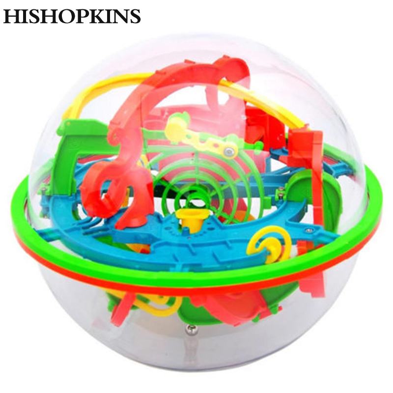 Hishopkins 100 Steps 3D Puzzle Ball Magic Intellect Maze Ball Track Balance Maze Game Puzzle Educational Toys For Children