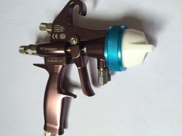 Doppel Duse Dual Kopf Spritzpistole Freies Verschiffen Chrom