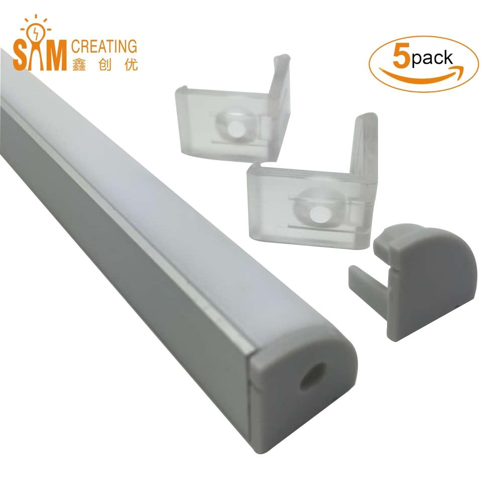 UnvarySam 5pcs 1metru cu LED-uri din aluminiu Channel cu LED-uri în - Iluminat cu LED