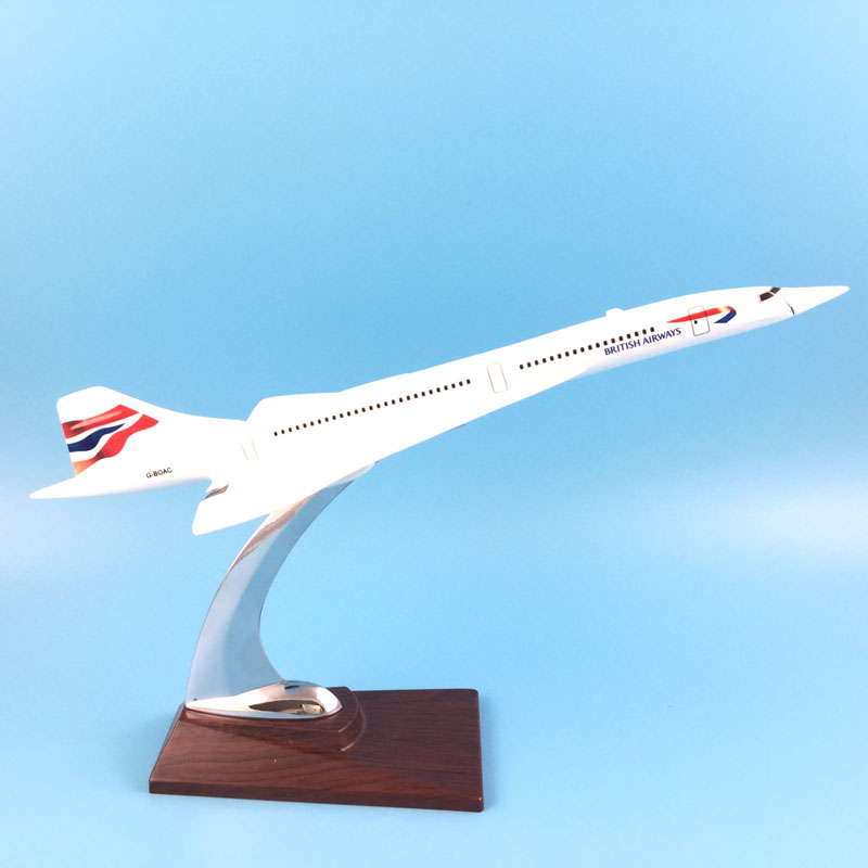 FREE SHIPPING 31CM BRITISH AIRWAYS CONCORDE METAL BASE RESIN MODEL PLANE AIRCRAFT MODEL TOY AIRPLANE BIRTHDAY GIFT free shipping 16cm 757 dhl metal alloy model plane aircraft model toy airplane birthday gift
