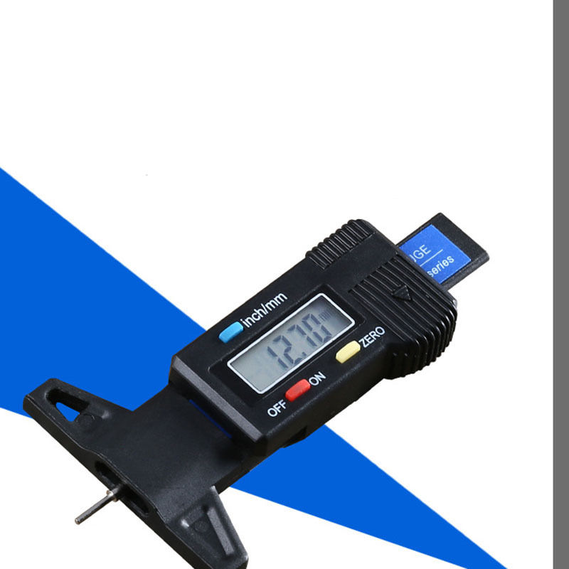 Car Digital Tire Tread Brake Pad LCD Depth Gauge Shoe Pad Wear 0 25MM