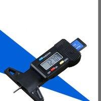 Xe Kỹ Thuật Số Tire Tread Phanh Pad LCD Sâu Đo Giày Pad Mang 0-25 MÉT