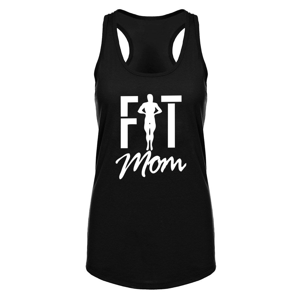 Womens Fit Mom Fitness Workout Racerback Tank Tops Mother's Day Gift