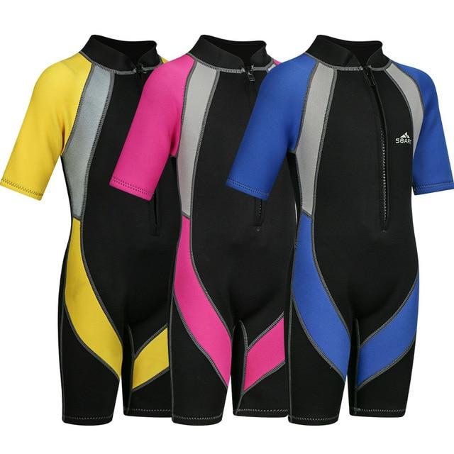 Sbart 1.5MM Neoprene Kids Girls Boys Wetsuits Diving Suits Bodysuits  Snorkeling Equipment Surfing Rash Guards Front Zipper CO dec3f88c5