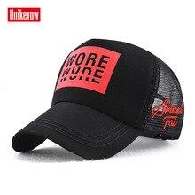 Brand UNIKEVOW Printed cotton cap Summer  hat for men & women mesh baseball Breathable hip hop snapback Baseball