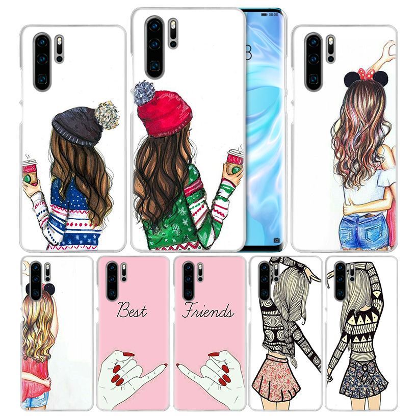 Best Friends Case for Huawei P20 P30 P Smart Z + Plus 2019 P10 P9 P8 Mate 10 20 lite Pro 2017 Hard PC Coque Phone Cover P20lite
