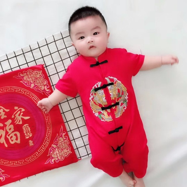 5552d31b6 Newborn Baby Clothes Boy and Girl Clothes Chinese Style embroidered ...