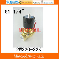 2W320 32K Water Air Gas Fuel Normal Open Electric Solenoid Valve G11/4 2way 2position AC220V