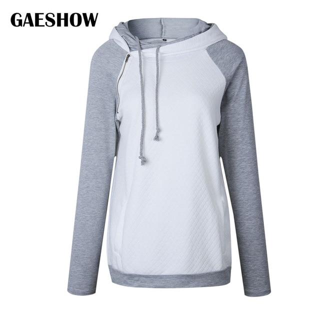 Gaeshow Oversize Hoodies Sweatshirts Women Pullover Hoodie Female Patchwork  Double Hood Hooded Sweatshirt Autumn Coat Warm Hoody 06c6d691d