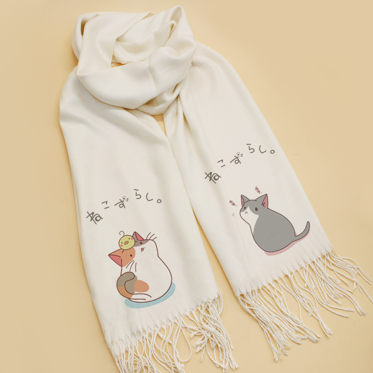 lots of styles Neko Atsume scarves Scarf Cosplay Soft Cat's backyard Scarf Shawl Fashion New Xmas CHRISTMAS Gifts
