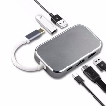 Navceker 5 in 1 USB 3 0 USB C HUB Adapter With Type C Power Delivery