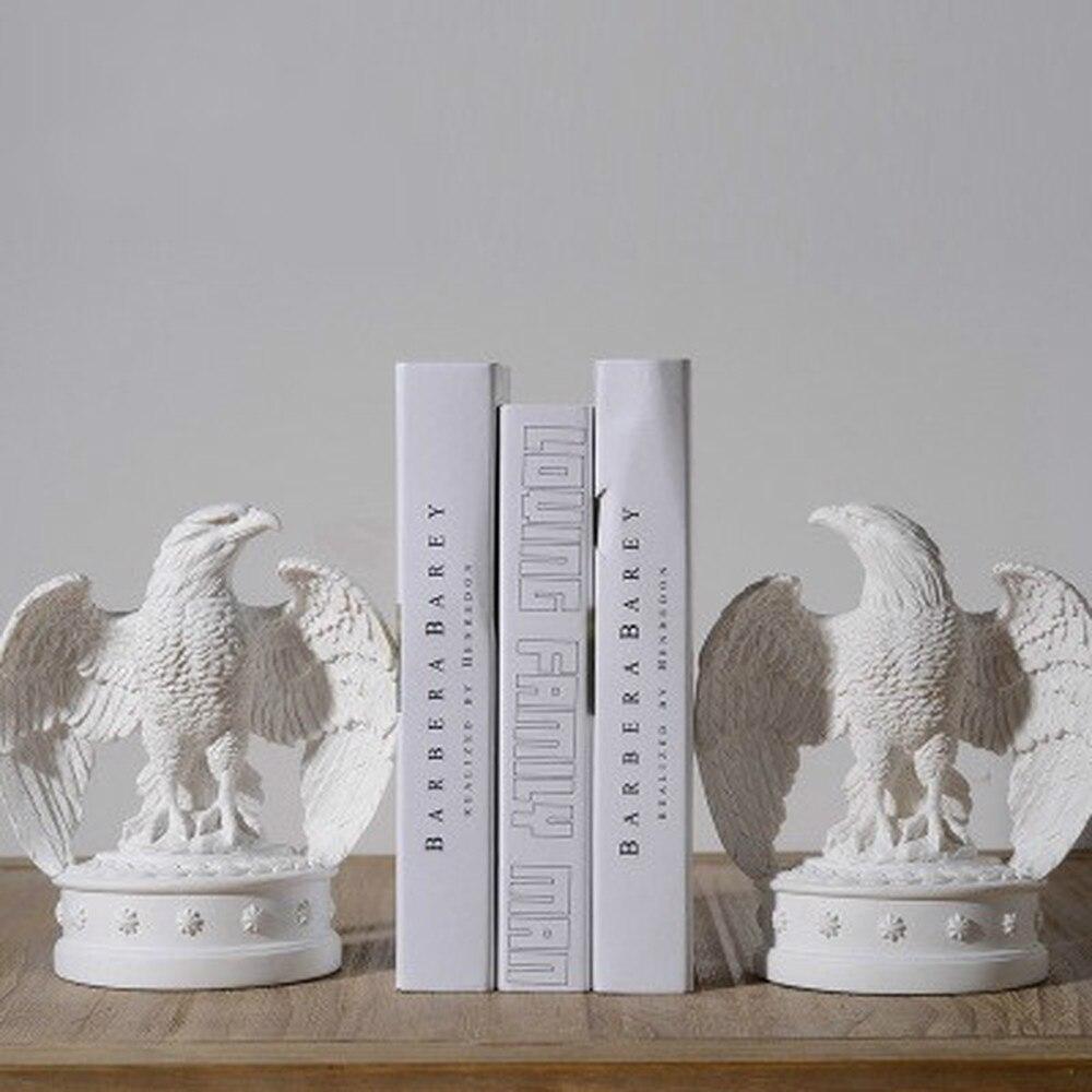 1 pièces moderne minimaliste cadeaux créatifs décoration modèle chambre doux décoration blanc aigle livre fichiers (sans livres) LU710957
