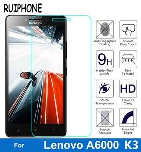 Image 2 - עבור Lenovo לימון A6000 6010 מזג זכוכית מסך מגן 0.26MM 9H 2.5D בטיחות מגן סרט על A6010 A6000 l 6000 בתוספת