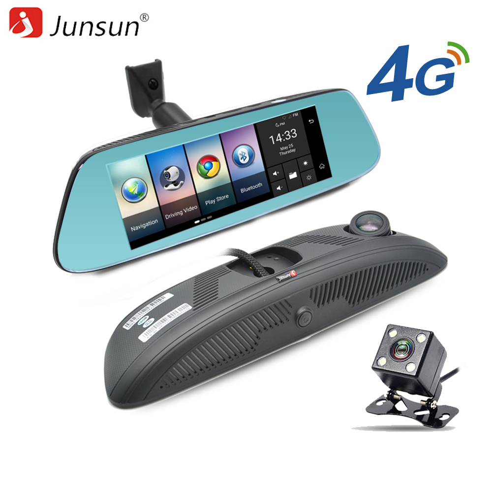 Junsun 8 4G Newest Mirror font b Car b font DVR Camera Android 5 1 with