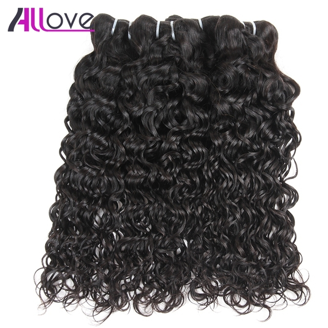 Allove Brazilian Water Wave Hair Bundles 4pcslot 100 Natural Remy