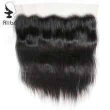 Alibd 13*4 синтетический Frontal шнурка волос синтетическое закрытие волос прямо бразильский натуральные волосы синтетическое закрытие волос беспла