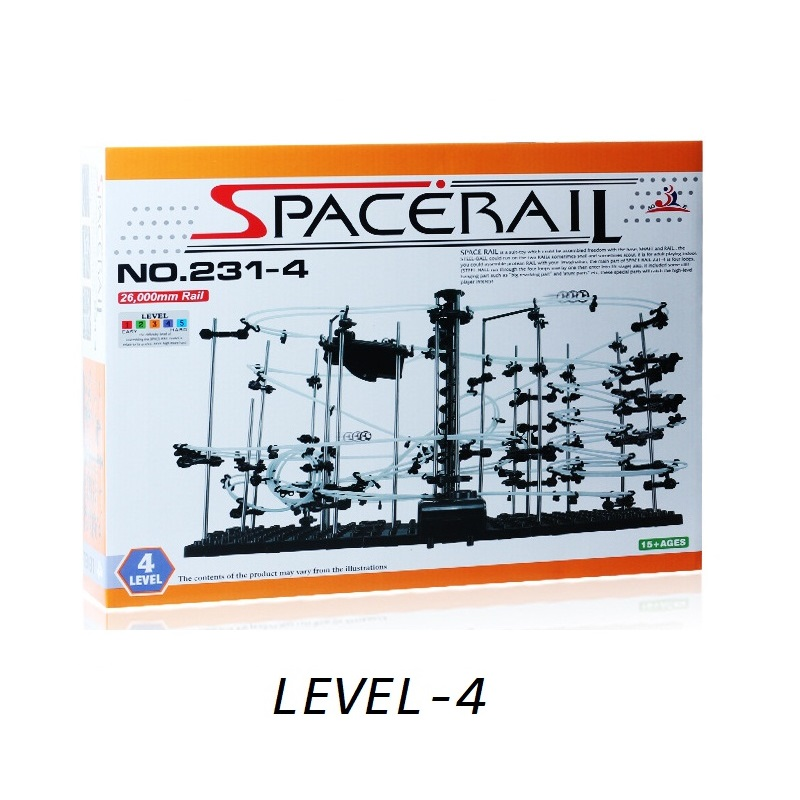 SpaceRail Toys Classic Level 4 (#231-4) Space Warp Which is Creative Building Blocks Inspire Mind Rolling Iron Ball and Gear BoX high quality new space rail funny model building kit rollercoaster toys spacerail level 9 diy spacewarp erector set 70000mm