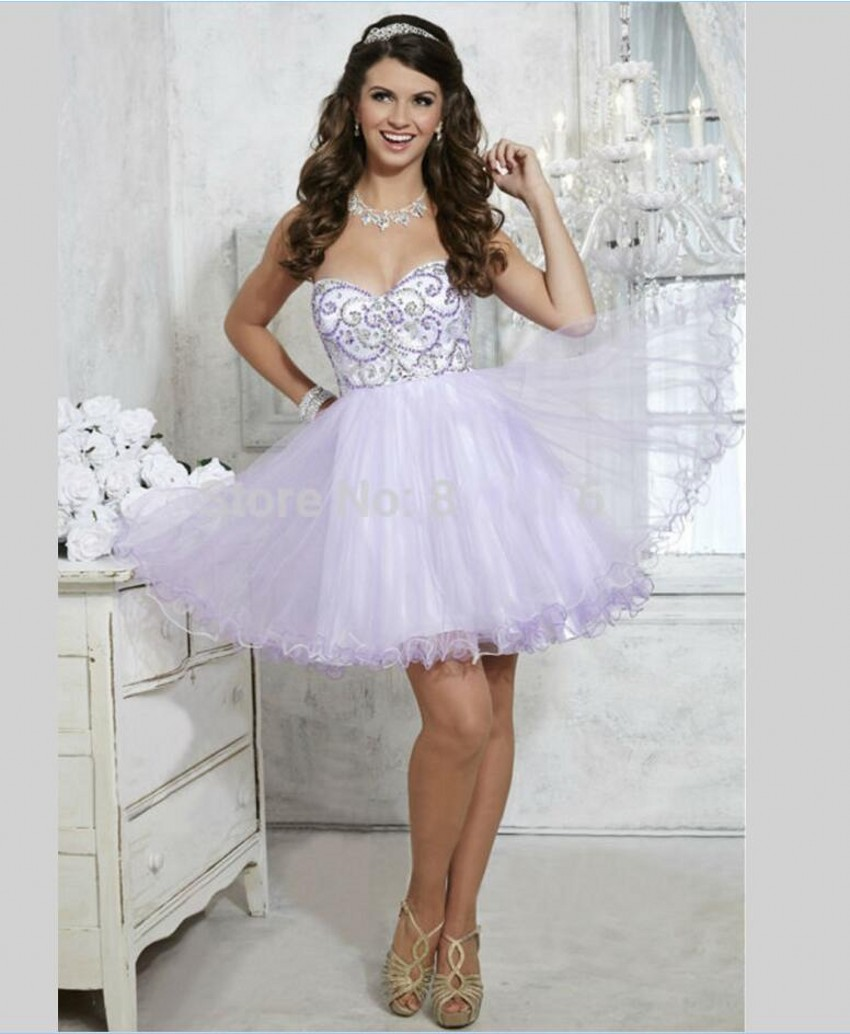 Light Purple Short Homecoming Dresses Promotion-Shop for ...
