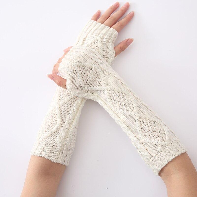 Fashion Women Snake Shape Winter Long Knit Arm Warmers Sleeves Gloves For Woman Girl's Arm Warmer