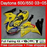 Body For Triumph Daytona 650 600 02 03 04 05 Yellow black Daytona600 86SH6 Daytona650 Daytona 600 2002 2003 2004 2005 Fairings