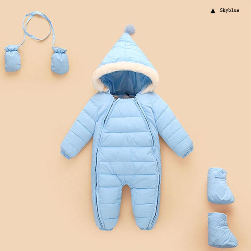 9f68d3c5d Winter Baby Romper Cotton Padded Warm Baby Girls Boys Overall with ...