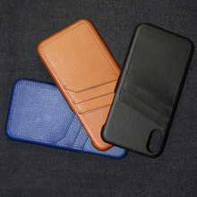 Retro Card Slot Leather Case For iPhone 8 7 Plus 6 6s Protective X Xs Max XR Shockproof Phone