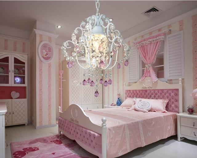 European Crystal Chandelier Pendant Lamps Home Decoration Princess Chandeliers Re Children Room Light Contemporary