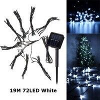 72 LED String Light Solar Powered Patio Umbrella LED String Fairy Garden Lights Cool White Lighting
