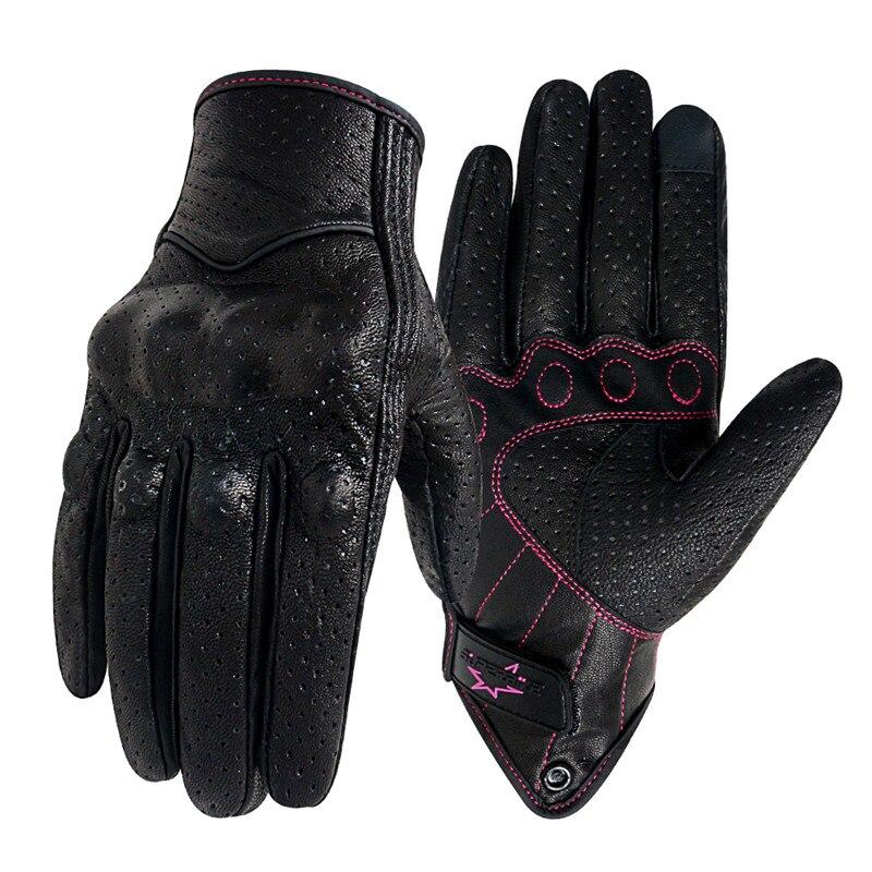 Женские кожаные мотоциклетные перчатки Touch XS S M, гоночные перчатки для велоспорта, женские Мотоциклетные Перчатки S M, otorbike Luva s M ujer