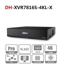 Dahua version multilingue originale DVR XVR 16 canaux penta brid 4K H.265 2U enregistreur vidéo numérique seriintello XVR7816S 4KL X