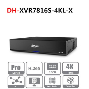 Image 1 - Original Dahua Multi Language version DVR XVR 16 Channel Penta brid 4K H.265 2U Digital Video Recorder SeriesPro XVR7816S 4KL X
