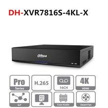 Orijinal Dahua çoklu dil sürümü DVR XVR 16 kanal penta brid 4K H.265 2U dijital Video kaydedici seriesPro XVR7816S 4KL X