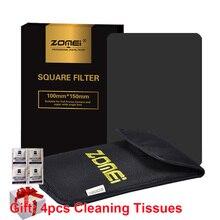 Cinza nd248 nd16 100mm * 150mm 100x150mm da densidade neutra do quadrado do filtro de zomei 100mm x 150mm para o filtro da série do cokin Z PRO
