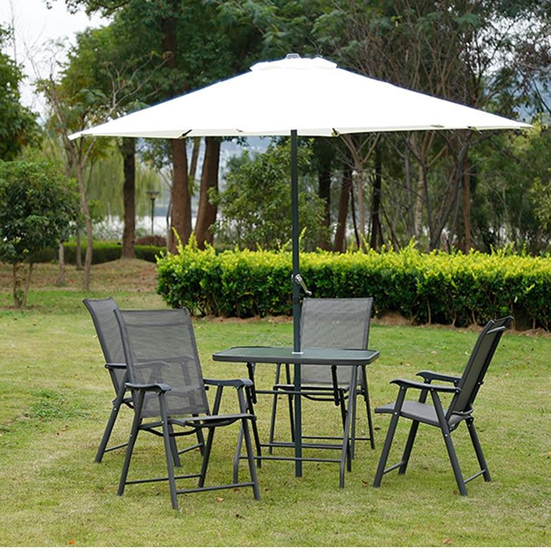 Courtyard Garden Chairs Leisure Outdoor Sun Umbrellas