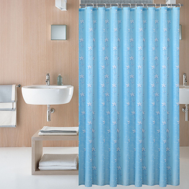 New High Grade Orchid Shower Curtain Waterproof Mildew Toilet Polyester Cloth Home Hotel Dedicated Curta