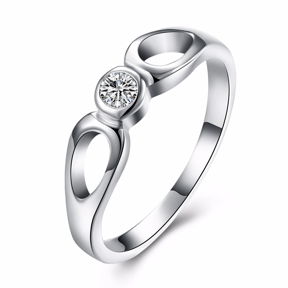 Free Shipping Expensive Noble Temperament Gentle Lady Zircon Silver Ring  Wedding Scene(china (mainland