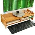Bambu luxo Mesa de Pé ou Suporte para Monitor De Riser, Acessórios Mesa de escritório Organizador