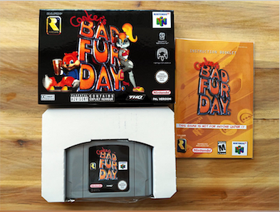 64 Bit Games ** Conker's Bad Fur Day ( English PAL Version!! box+manual+cartridge ) 64 bit games conker s bad fur day english pal version chip save file no need battery