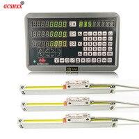 Высокоточный уровень измерительный инструмент полный 3 оси dro набор/комплект с шт. 1u линейные стеклянные весы для мельницы/токарный станок