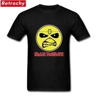Designer Iron Maiden Logo UK Old Band T Shirts Couple Short Sleeve 100 Cotton Tee Shirts