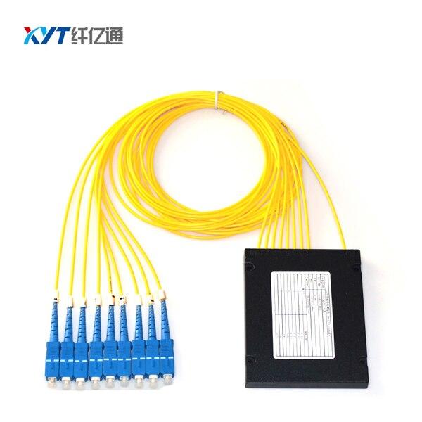FTTH SC UPC 1X8 Kassette PLC Splitter fiberlængde 1,5 m Fiberoptisk PLC Splitter Gratis forsendelse