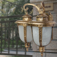 Odlew aluminiowy podwójna głowica kinkiet do restauracji na świeżym powietrzu małej rybackiej kinkiet antyczne ogrodowe lampy wodoodporna uliczne lampa w Wewnętrzne kinkiety LED od Lampy i oświetlenie na