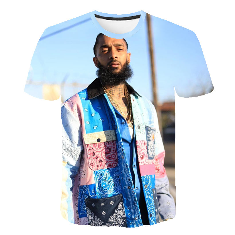 3D Hip Hop nipsey hussle t Shirt Rapper men women classic t shirt Summer soft Short Sleeve Harajuku nipsey hussle quality tshirt in T Shirts from Men 39 s Clothing