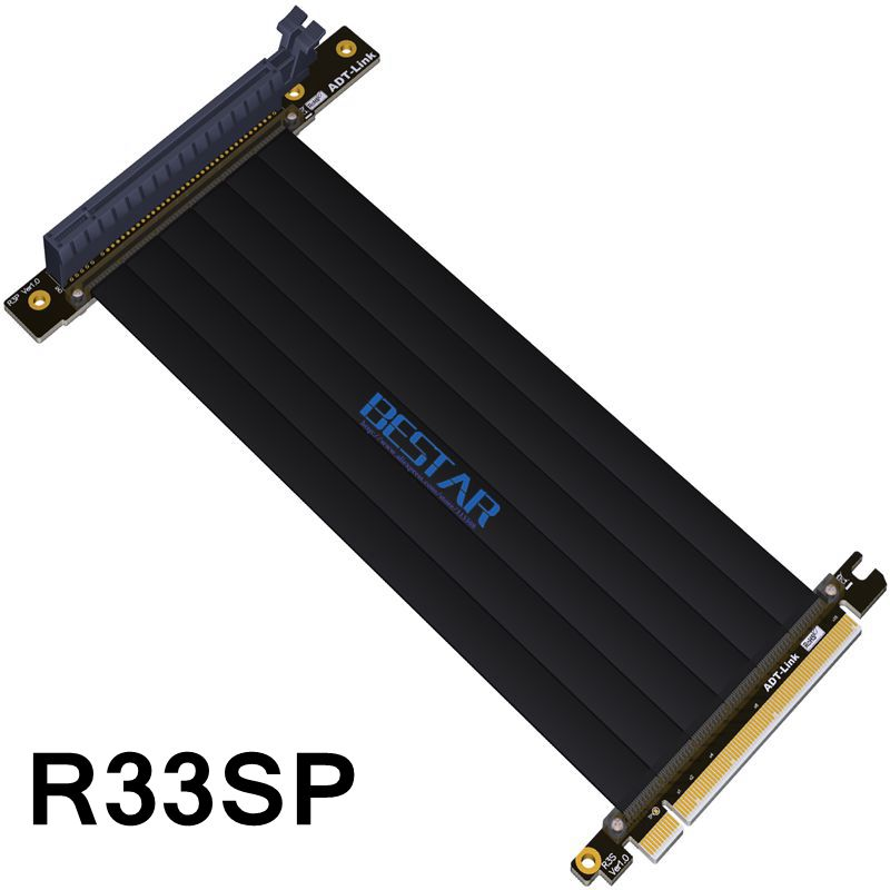 Câble PCIe d'extension de Riser Gen3.0 PCI-E 16x à 16x pour carte mère PHANTEKS ENTHOO Evolv Shift PH-ES217E/XE PK-217E/XE ITX